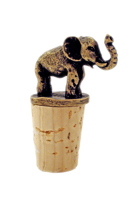 South African Brass Elephant Wine Bottle Stopper