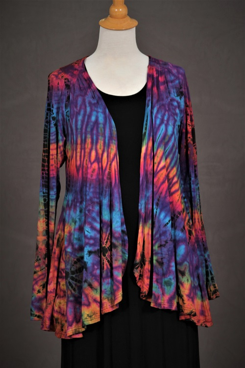 Tie-Dye Jacket with Gathers ZU23
