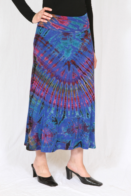 Long Tie-Dyed Skirt