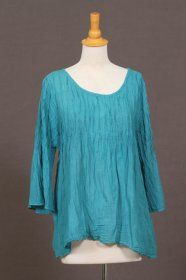 Pleated 3/4 Sleeve Top