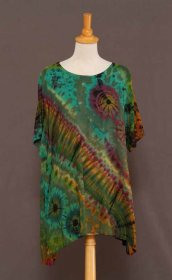 Round Neck Oversized Tie-dye Top