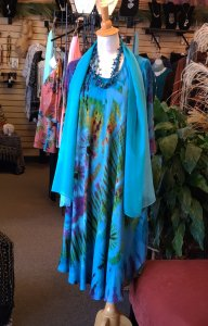 Turquoise Tie Dye Dress Collection