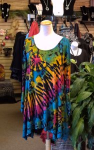 Tie Dye Long Sleeved Tunic