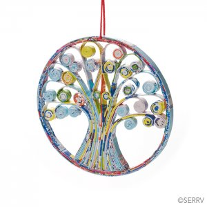Fair Trade Colorwrap Tree of Life Ornament