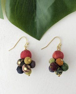 Kantha Cluster Earrings